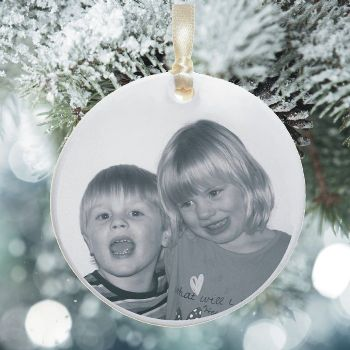 Photo Ceramic Christmas Tree Decoration - Xmas Tree Bauble Personalised